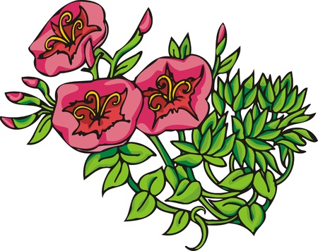 Hearts & Flowers .Vector illustration ready for vinyl cutting. Stock Vector - 8760080