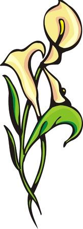 christmas tattoo:   Flowers .Vector illustration ready for vinyl cutting.