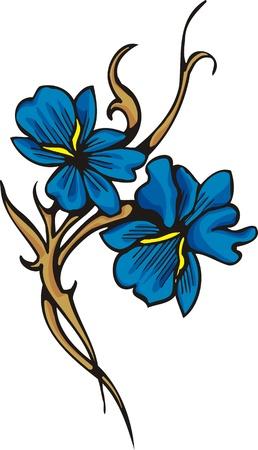 花。ビニールの切断の準備ができての図。