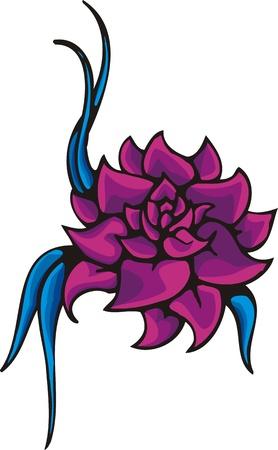 Flowers .Vector illustration ready for vinyl cutting. Illustration