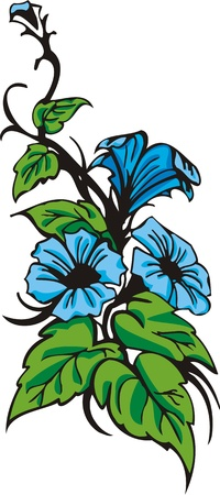 Les coeurs les fleurs &.  Illustration prête pour la découpe de vinyle.