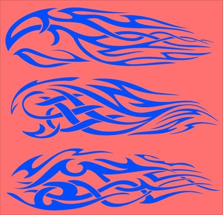Tribal Flames.Vector illustration ready for vinyl cutting. Vector