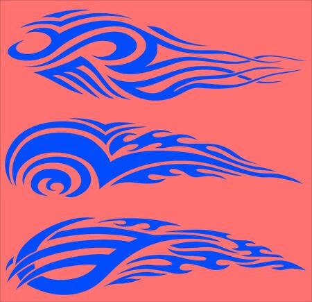 Tribal Flames.Vector illustration ready for vinyl cutting. Stock Vector - 8759998
