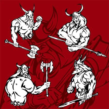 norseman: Vikings.Vector Illustration.Vinyl Ready.