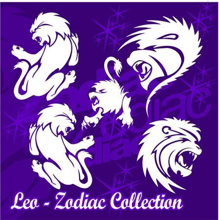 Lion.Tribal Zodiac.Vector Illustration.Vinyl Ready.