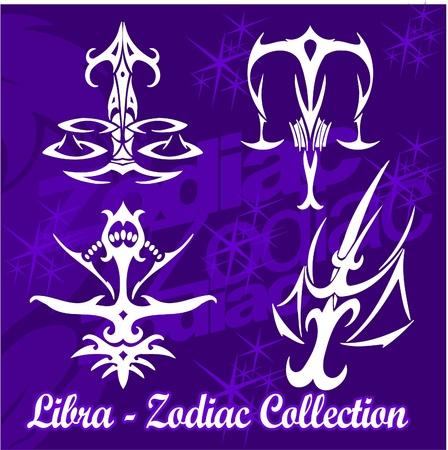 abstract aquarius: Scales.Tribal Zodiac.Vector Illustration.Vinyl Ready.
