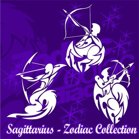 sagittarius: Sagittarius.Tribal Zodiac.Vector Illustration.Vinyl Ready. Illustration