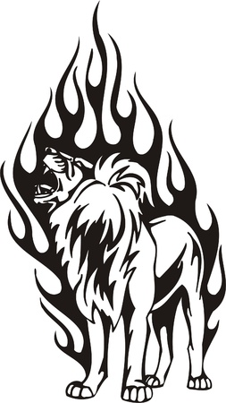 decal: Tribal Predators.Vector illustration ready for vinyl cutting. Illustration