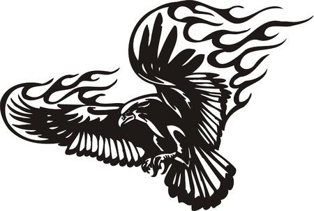 fenice: Illustrazione Predators.Vector tribali pronti per il taglio di vinile. Vettoriali
