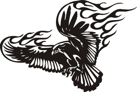 Tribal Predators.Vector illustration ready for vinyl cutting. Stock Vector - 8759515