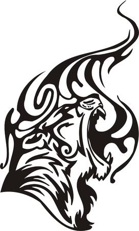 Tribal Predators.Vector illustration ready for vinyl cutting. Stock Vector - 8759662
