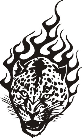 Tribal Predators.Vector illustration ready for vinyl cutting. Stock Vector - 8759446