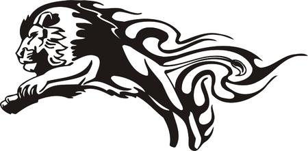 tigres: Ilustraci�n Predators.Vector tribal listo para el corte de vinilo.
