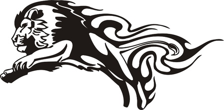 Tribal Predators.Vector illustration ready for vinyl cutting. Stock Vector - 8759628