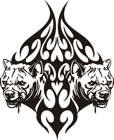 Tribal Predators.Vector illustration ready for vinyl cutting. Stock Vector - 8759824
