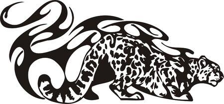 Tribal Predators.Vector illustration ready for vinyl cutting. Vector