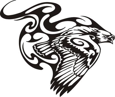 Tribal Predators.Vector illustration ready for vinyl cutting. Ilustrace