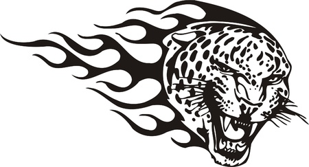Tribal Predators.Vector illustration ready for vinyl cutting. Stock Vector - 8759740