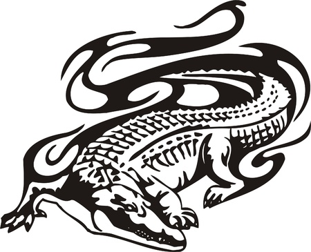Tribal Predators.Vector illustration ready for vinyl cutting.