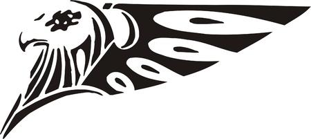 Tribal Predators.Vector illustration ready for vinyl cutting. Stock Vector - 8759372