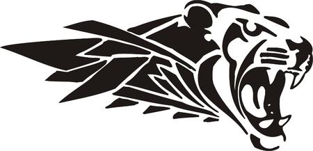 atack: Tribal Predators.Vector illustration ready for vinyl cutting. Illustration