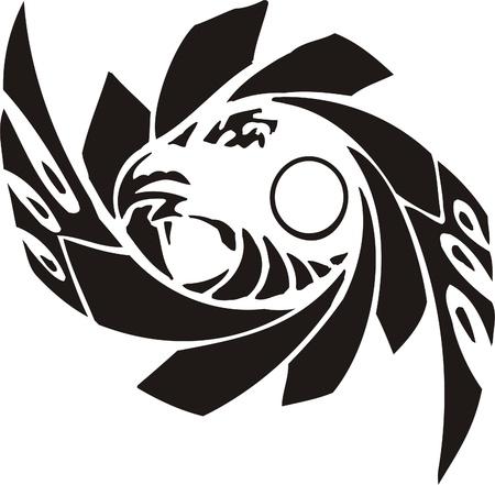 Tribal Predators.Vector illustration ready for vinyl cutting. Stock Vector - 8759745