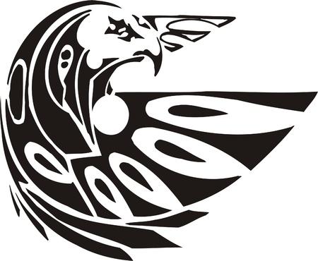 Tribal Predators.Vector illustration ready for vinyl cutting. Stock Vector - 8759749