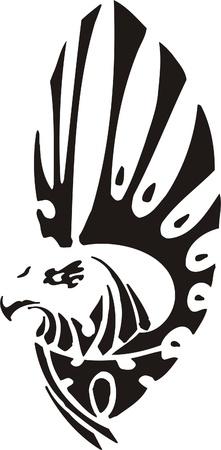Ilustración Predators.Vector tribal listo para el corte de vinilo.