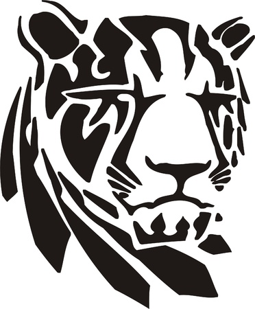 Tribal Predators.Vector illustration ready for vinyl cutting. Stock Vector - 8759660