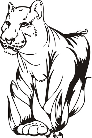 Tribal Predators.Vector illustration ready for vinyl cutting. Stock Vector - 8759504