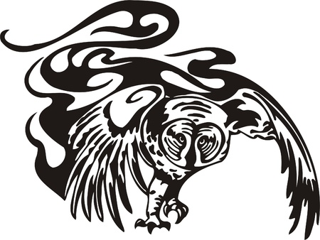 signmaking: Ilustraci�n Predators.Vector tribal listo para el corte de vinilo.