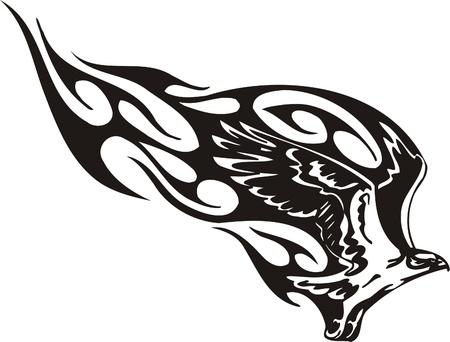 Illustrazione Predators.Vector tribali pronti per il taglio di vinile.