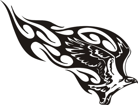 tribal wings: Tribal Predators.Vector illustration ready for vinyl cutting. Illustration