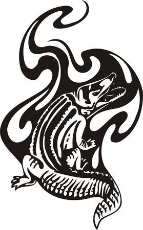 signmaking: Tribal Predators.Vector illustration ready for vinyl cutting. Illustration