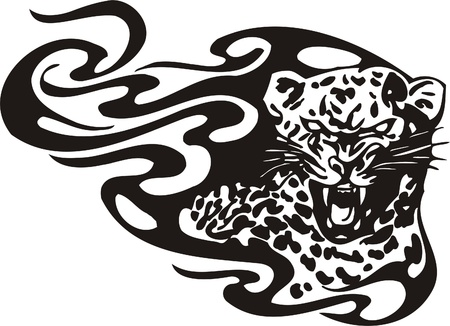 Tribal Predators.Vector illustration ready for vinyl cutting. Stock Vector - 8759507