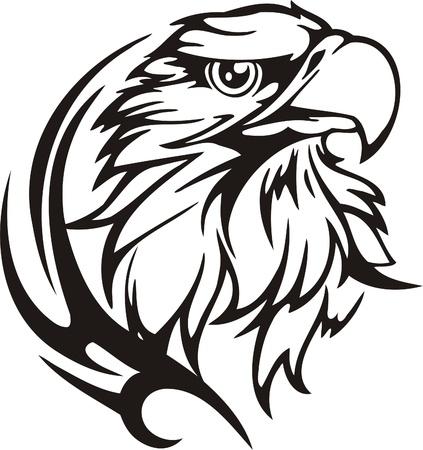 halcones: Ilustraci�n Predators.Vector tribal listo para el corte de vinilo.