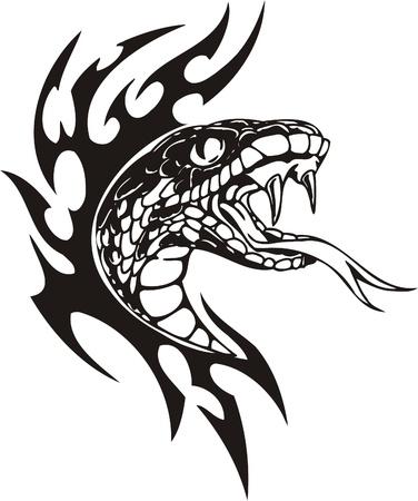 resplandor: Ilustraci�n Predators.Vector tribal listo para corte de vinilo.
