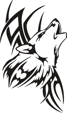 tribali: Illustrazione Predators.Vector tribali pronti per il taglio di vinile. Vettoriali