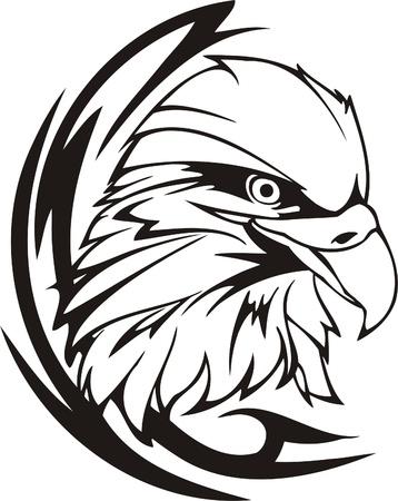 adler silhouette: Tribal Predators.Vector Illustration bereit f�r Vinyl-schneiden. Illustration