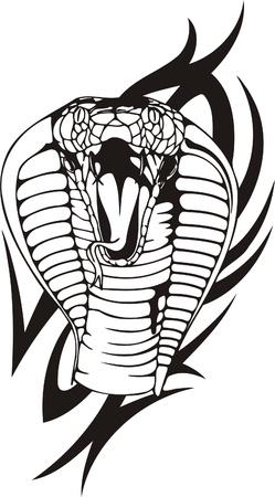 Tribal Predators.Vector illustration ready for vinyl cutting. Stock Vector - 8759406