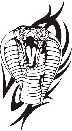 jaw: Tribal Predators.Vector illustration ready for vinyl cutting. Illustration
