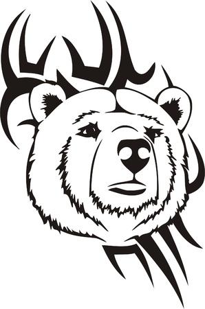 Tribal Predators.Vector illustration ready for vinyl cutting. Stock Vector - 8759556
