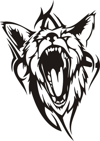 tribales: Ilustraci�n Predators.Vector tribal listo para el corte de vinilo.