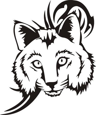 lynx: Plemiennych ilustracji Predators.Vector jest gotowy do ciÄ™cia winylu.