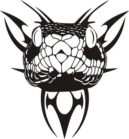 Natter: Stammes-Predators.Vector Illustration f�r Vinyl-Cuttings bereit.