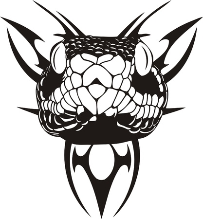 snake symbol: Tribal Predators.Vector illustration ready for vinyl cutting. Illustration