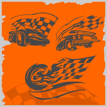 Street Racing Cars - series vector images. Ready to Cut. Stock Vector - 8759388