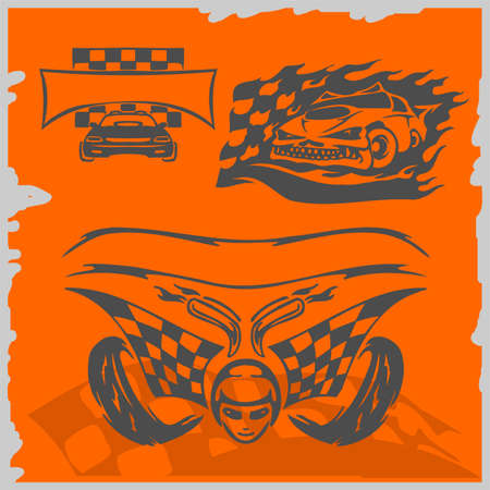 Street Racing Cars - series vector images. Ready to Cut. Stock Vector - 8759462