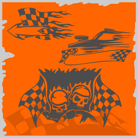 Street Racing Cars - series vector images. Ready to Cut. Stock Vector - 8759482