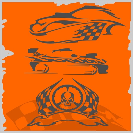 Street Racing Cars - series vector images. Ready to Cut. Stock Vector - 8759492